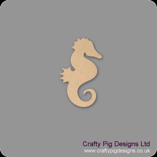 3mm MDF Seahorse Shape Basic Shapes