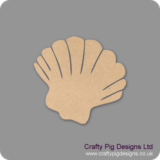 3mm MDF Sea Shell Shape Basic Shapes