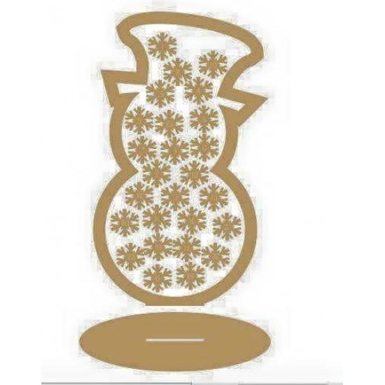 3mm MDF Snowman Advent Calendar/Drop Box