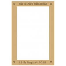 MDF Rectangular Wedding Drop Box 40x28cm (solid etched bold font names and date) Personalised and Bespoke