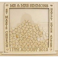 Small 30x30cm MDF Square Wedding Guest Drop Box Personalised and Bespoke