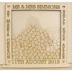 Large 50x50cm MDF Square Wedding Guest Drop Box