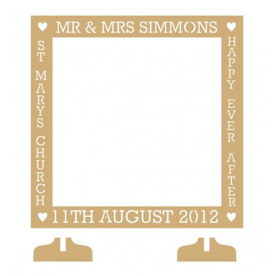Medium 40x40cm MDF Square Wedding Guest Drop Box Personalised and Bespoke