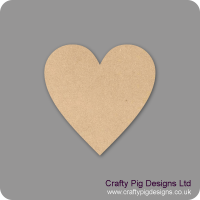 3mm MDF Standard Heart (pack of 10)