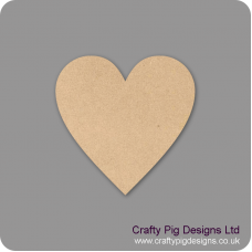3mm MDF Standard Heart Bunting (pack of 10) Bunting