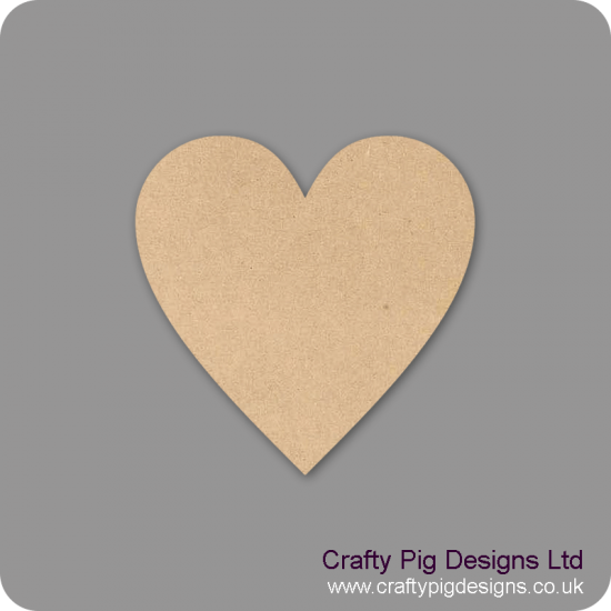 3mm MDF Standard Heart (pack of 10) Hearts