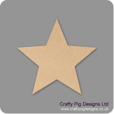 3mm MDF Standard Star (pack of 10) Small MDF Embellishments