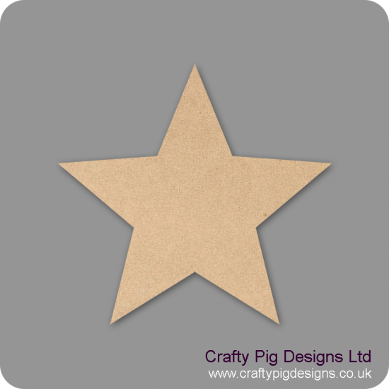3mm MDF Standard Star Small MDF Embellishments