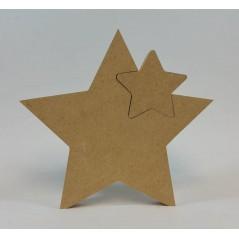 18mm Freestanding Star With 1 Interlocking Star 18mm MDF Interlocking Craft Shapes