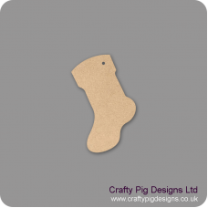 3mm MDF Stocking - to match fireplace stockings (packs of 5) Christmas Shapes