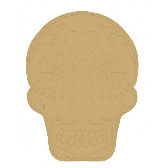 3mm MDF Sugar Skull Bunting With Etched Detail (pack of 10)