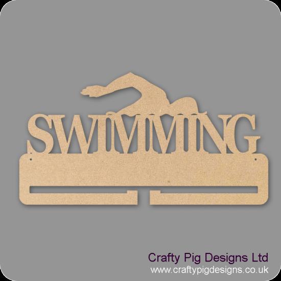 4mm MDF Swimming Medal Holder Medal Holder / Hanger