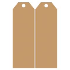 Door Tag 4 in 4mm MDF (1 Pair) Door Tags