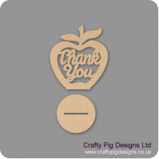 3mm MDF Thank You - Freestanding Apple Teachers