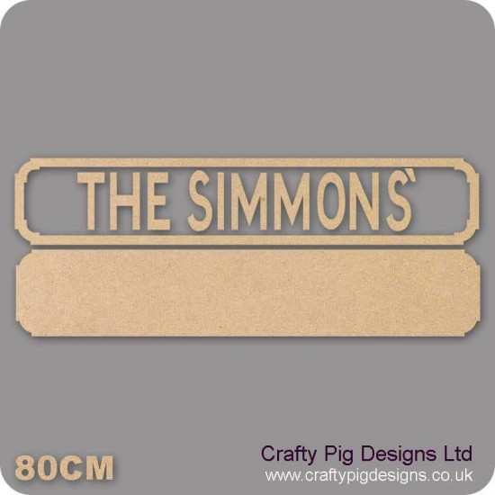 18mm The Anyname Street Sign  (Upper and Lowercase now available type how you want it to appear on sign) Personalised and Bespoke