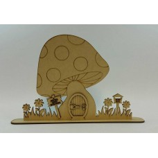 3mm Toadstool House With Base Fairy Doors and Fairy Shapes