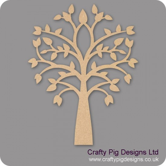 3mm MDF New Tree With Pointy Leaves Trees Freestanding, Flat & Kits