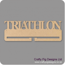 4mm MDF Triathlon Medal Holder Medal Holder / Hanger
