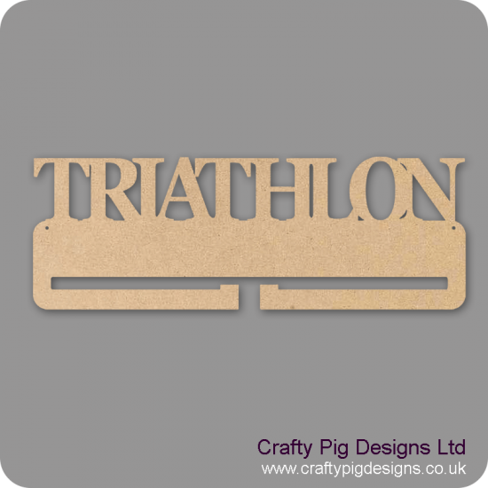 4mm MDF Triathlon Medal Holder