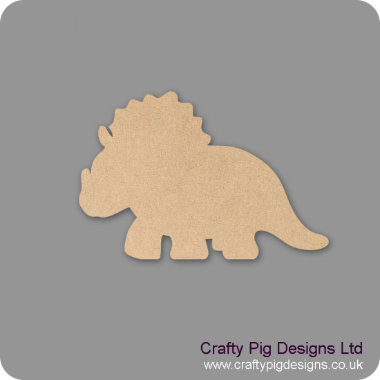 18mm Triceratops Shape 18mm MDF Craft Shapes
