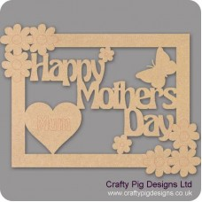 3mm MDF Happy Mothers Day Plaque style 1 Mother's Day