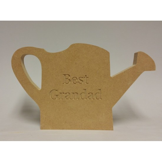 18mm Engraved Watering Can  (choice of wording)(150mm) 18mm MDF Engraved Craft Shapes
