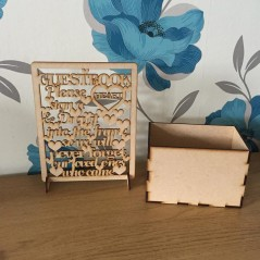 3mm MDF Box and Wedding Heart Sign
