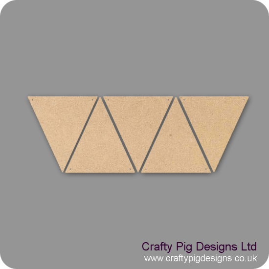 3mm MDF Wide Flag Bunting (singles) Bunting