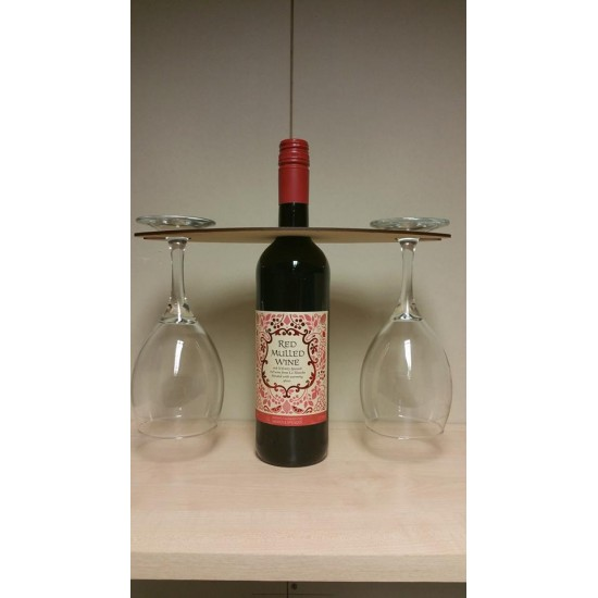 3mm MDF Wine Glass Holder Basic Shapes