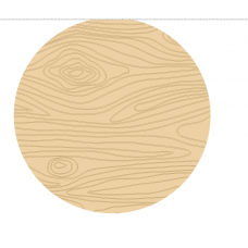 3mm Circle or Square Shape with Engraved Wood Effect (single) Basic Plaque Shapes